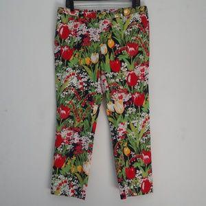 Tory Burch Floral Slacks Pants